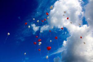 בלונים לב רומנטיים